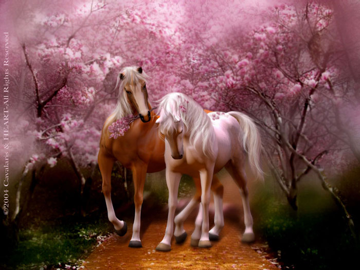 horse series spring love -#main