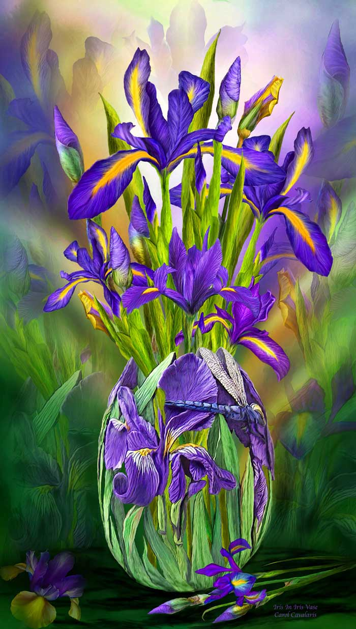 Language of flowers series dutch iris in iris vase dutch iris in iris vase izmirmasajfo