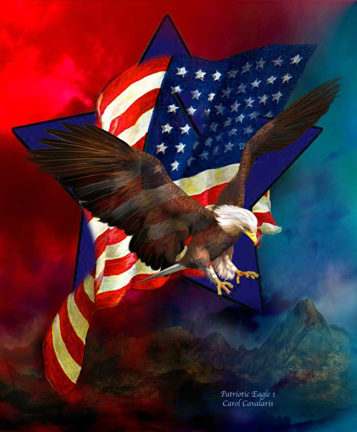 Patriotic Eagle Artwork Patriotic eagle one