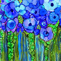 Wild Garden Poppies Blue