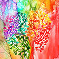 Rainbow Heart Tree